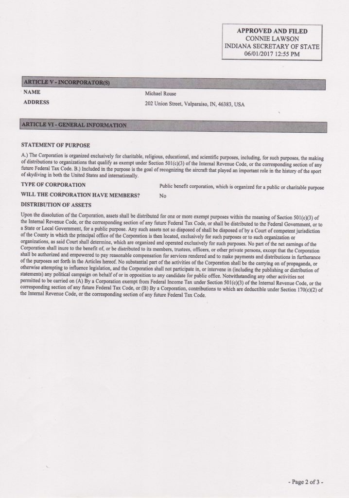 articles of incorporation page 2